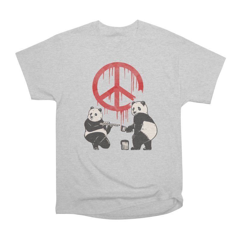 Pandalism Peace Sign Men's Heavyweight T-Shirt by Fathi