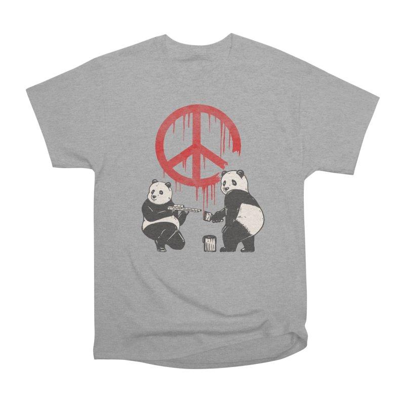 Pandalism Peace Sign Men's Heavyweight T-Shirt by Fathi