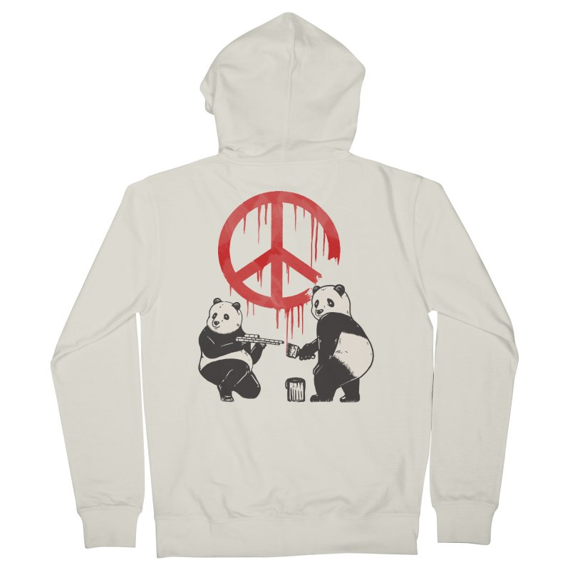 Pandalism Peace Sign Men's French Terry Zip-Up Hoody by Fathi