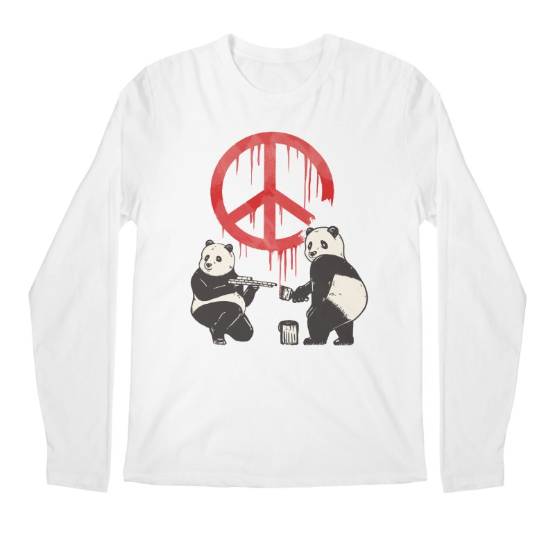 Pandalism Peace Sign Men's Regular Longsleeve T-Shirt by Fathi