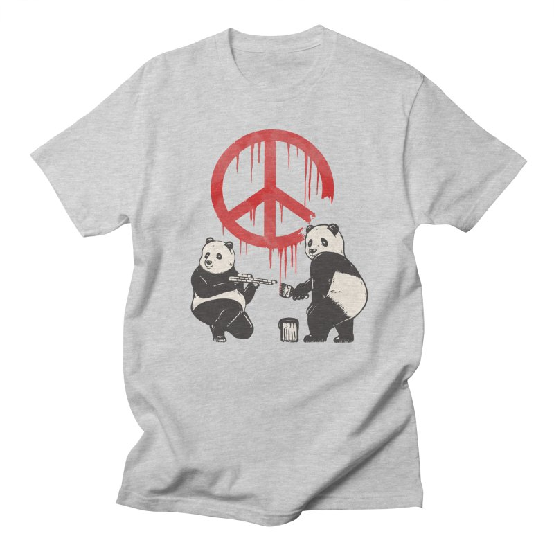 Pandalism Peace Sign Women's Regular Unisex T-Shirt by Fathi
