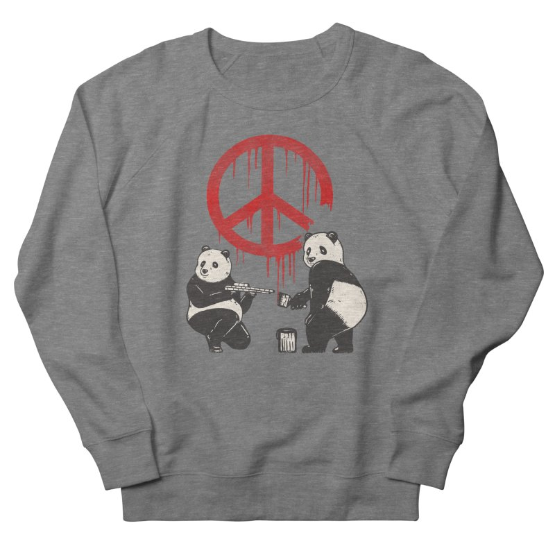 Pandalism Peace Sign Women's Sweatshirt by Fathi