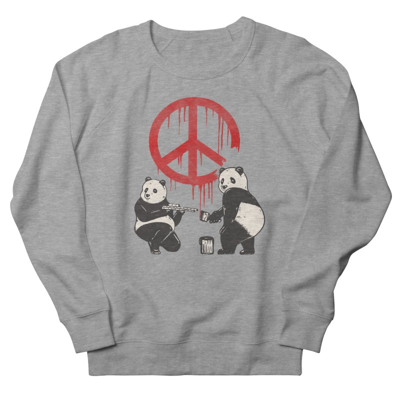 Pandalism Peace Sign Men's French Terry Sweatshirt by Fathi