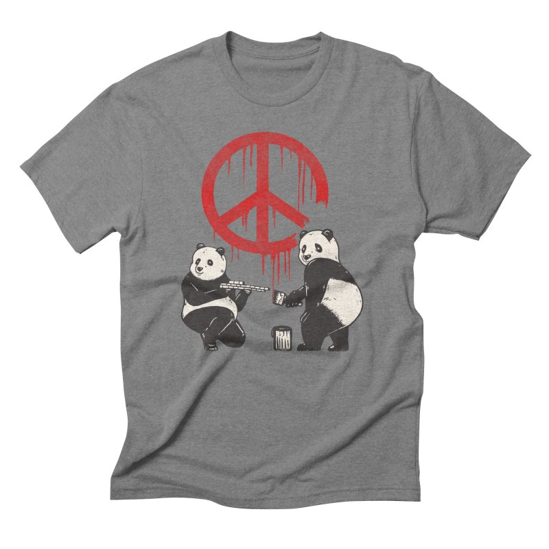 Pandalism Peace Sign Men's Triblend T-Shirt by Fathi