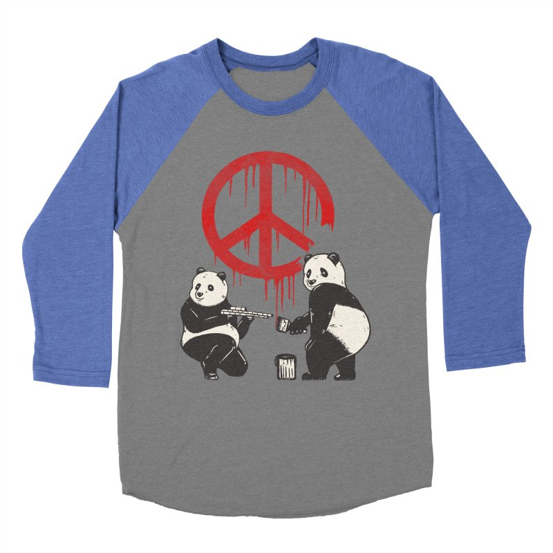 Pandalism Peace Sign Women's Baseball Triblend Longsleeve T-Shirt by Fathi