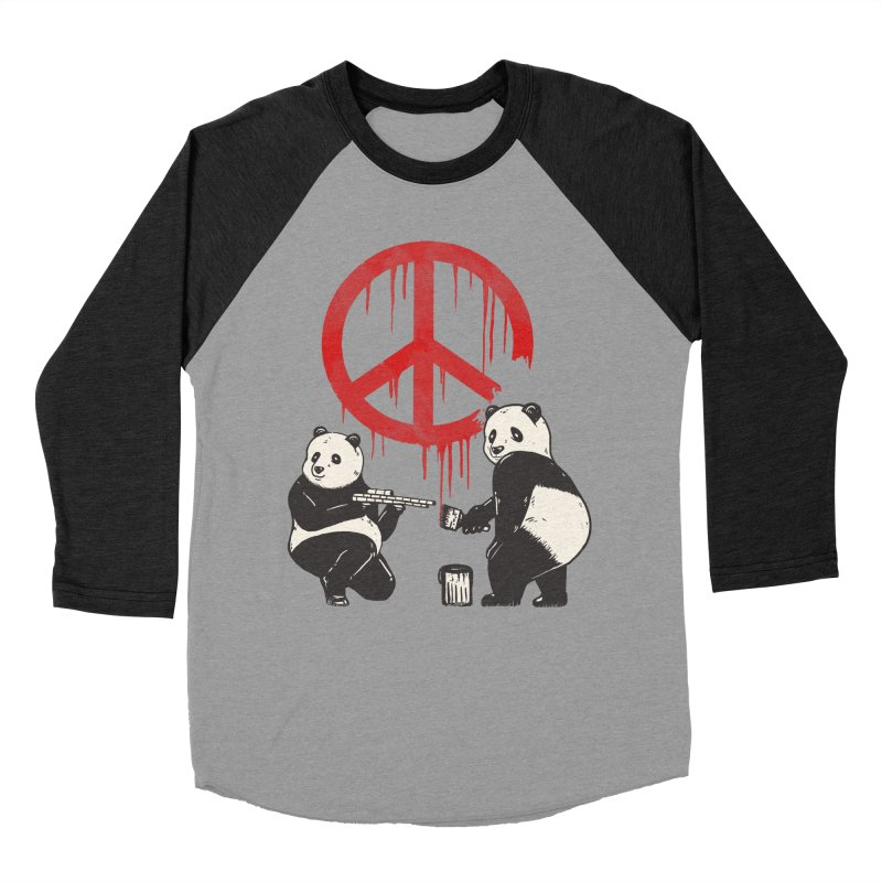 Pandalism Peace Sign Men's Baseball Triblend Longsleeve T-Shirt by Fathi