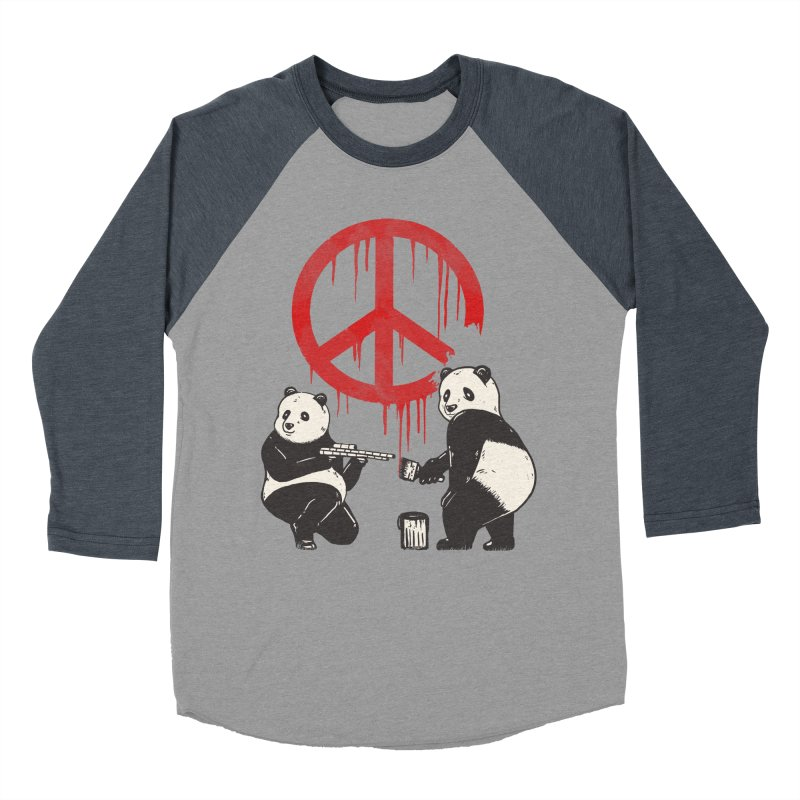 Pandalism Peace Sign Men's Baseball Triblend Longsleeve T-Shirt by Fathi