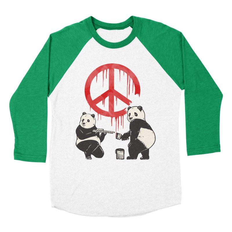 Pandalism Peace Sign Men's Baseball Triblend T-Shirt by Fathi