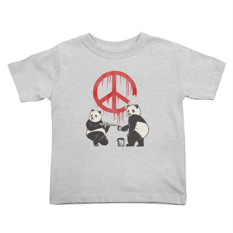 Pandalism Peace Sign Kids Toddler T-Shirt by Fathi