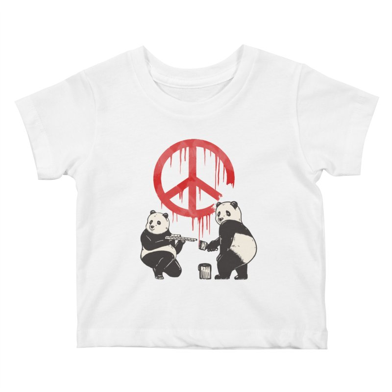Pandalism Peace Sign Kids Baby T-Shirt by Fathi