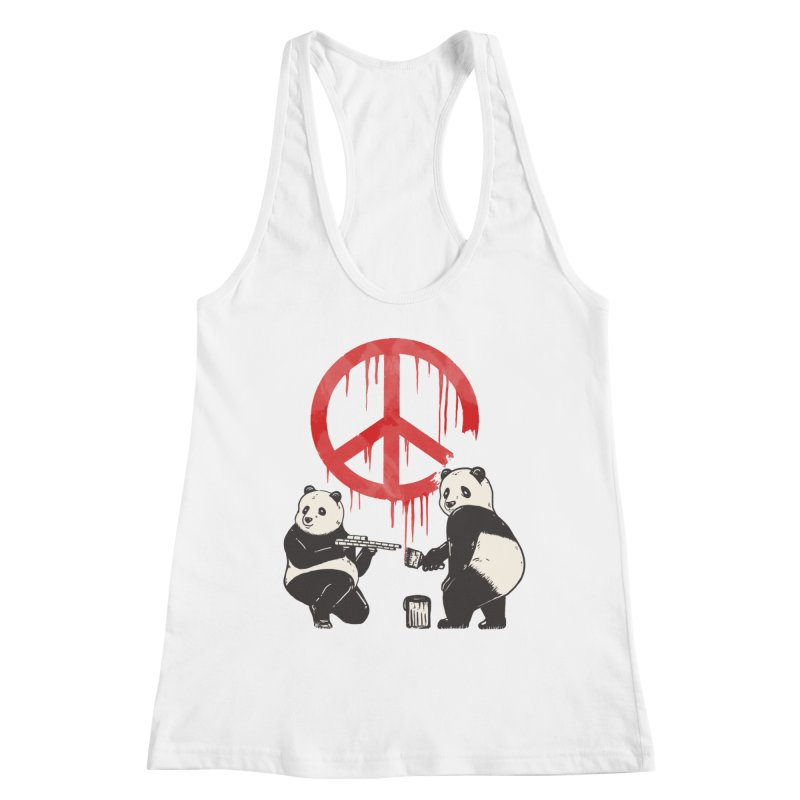 Pandalism Peace Sign Women's Tank by Fathi
