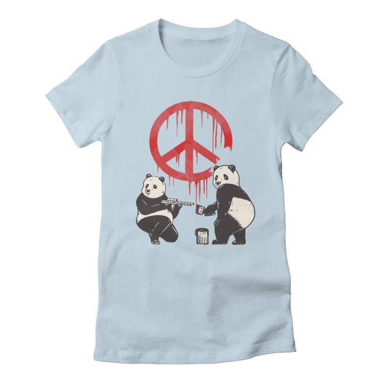 Pandalism Peace Sign Women's T-Shirt by Fathi