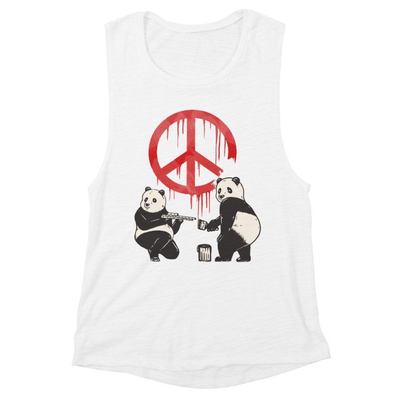 Pandalism Peace Sign Women's Tank by Fathi
