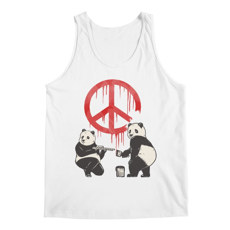 Pandalism Peace Sign Men's Tank by Fathi