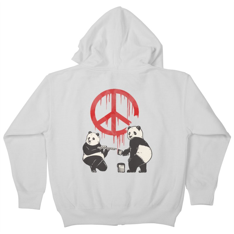 Pandalism Peace Sign Kids Zip-Up Hoody by Fathi