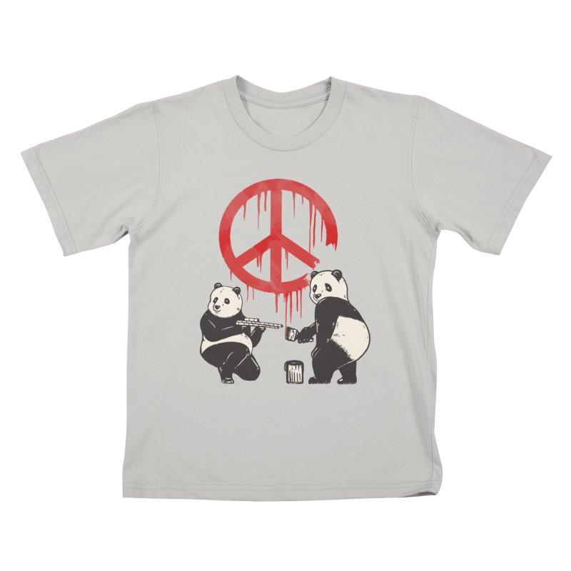 Pandalism Peace Sign Kids T-shirt by Fathi