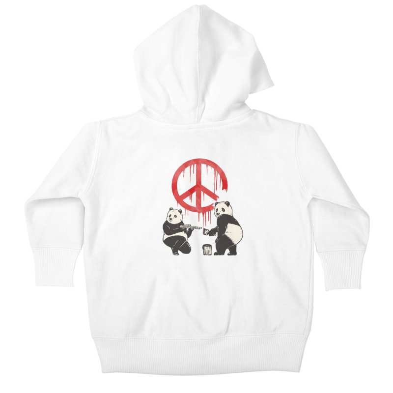 Pandalism Peace Sign Kids Baby Zip-Up Hoody by Fathi