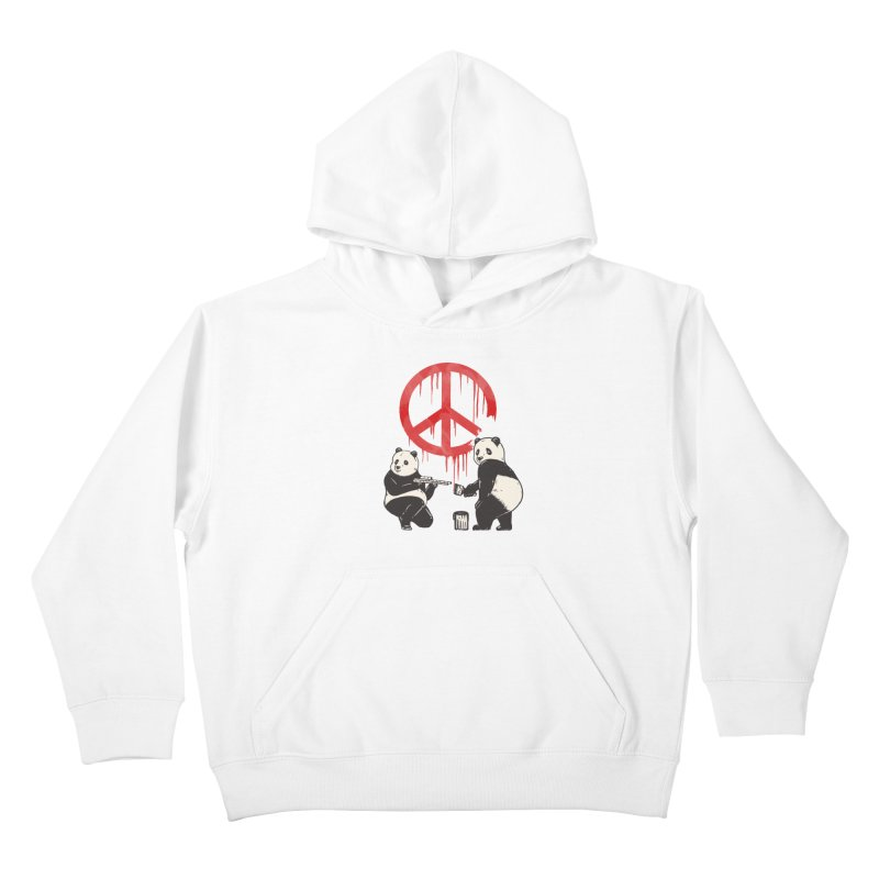 Pandalism Peace Sign Kids Pullover Hoody by Fathi