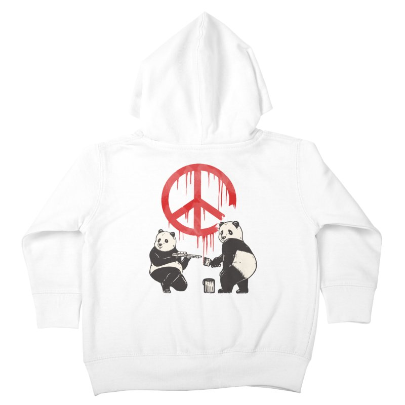 Pandalism Peace Sign Kids Toddler Zip-Up Hoody by Fathi