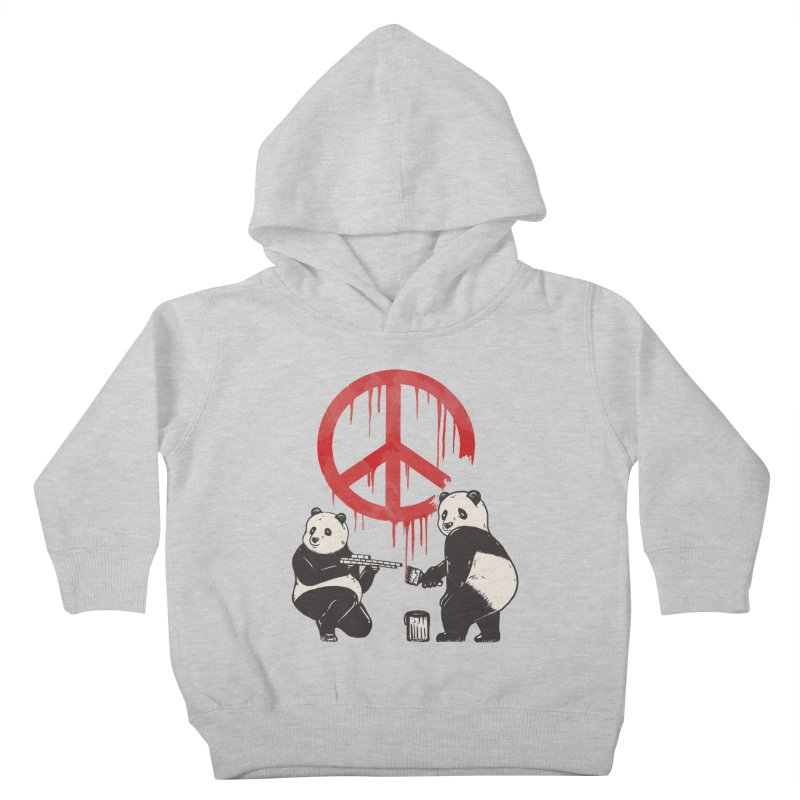 Pandalism Peace Sign Kids Toddler Pullover Hoody by Fathi