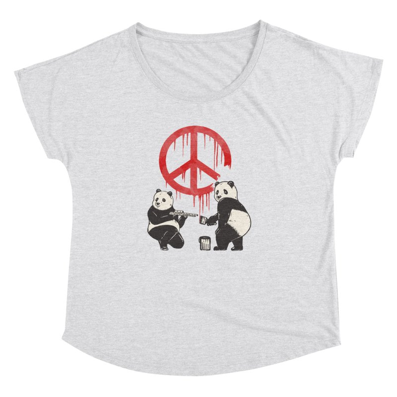 Pandalism Peace Sign Women's Dolman Scoop Neck by Fathi