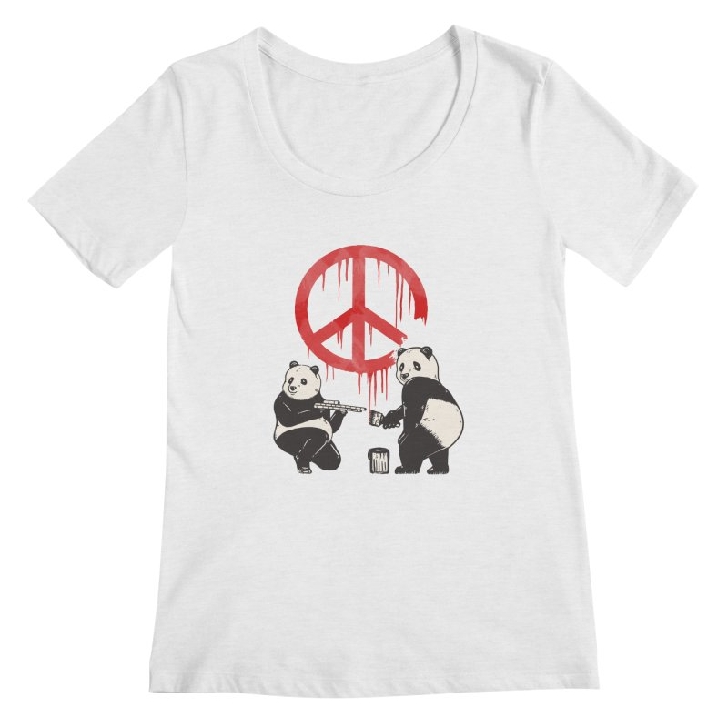 Pandalism Peace Sign Women's Regular Scoop Neck by Fathi