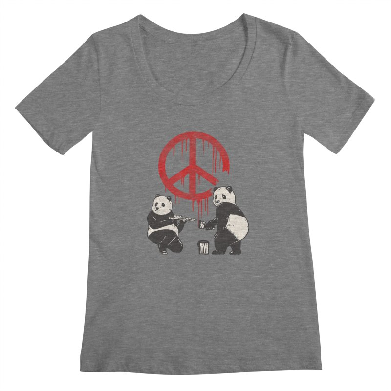 Pandalism Peace Sign Women's Scoopneck by Fathi