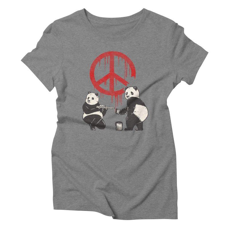 Pandalism Peace Sign Women's Triblend T-Shirt by Fathi