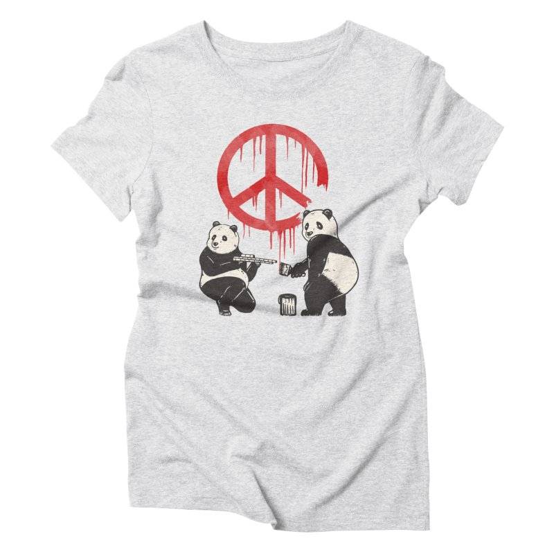 Pandalism Peace Sign Women's Triblend T-Shirt by Fathi