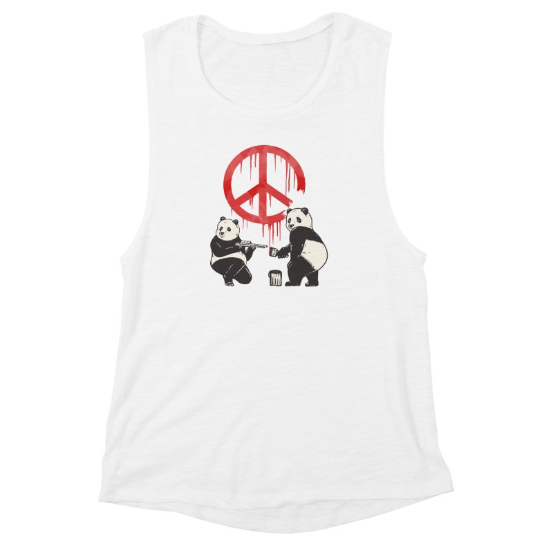 Pandalism Peace Sign Women's Muscle Tank by Fathi