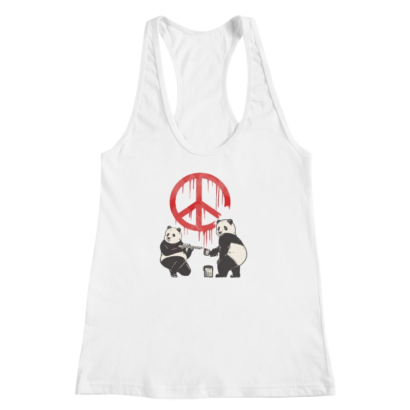 Pandalism Peace Sign Women's Racerback Tank by Fathi