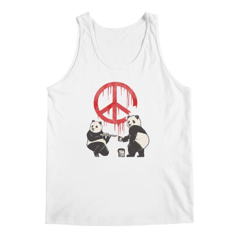 Pandalism Peace Sign Men's Regular Tank by Fathi