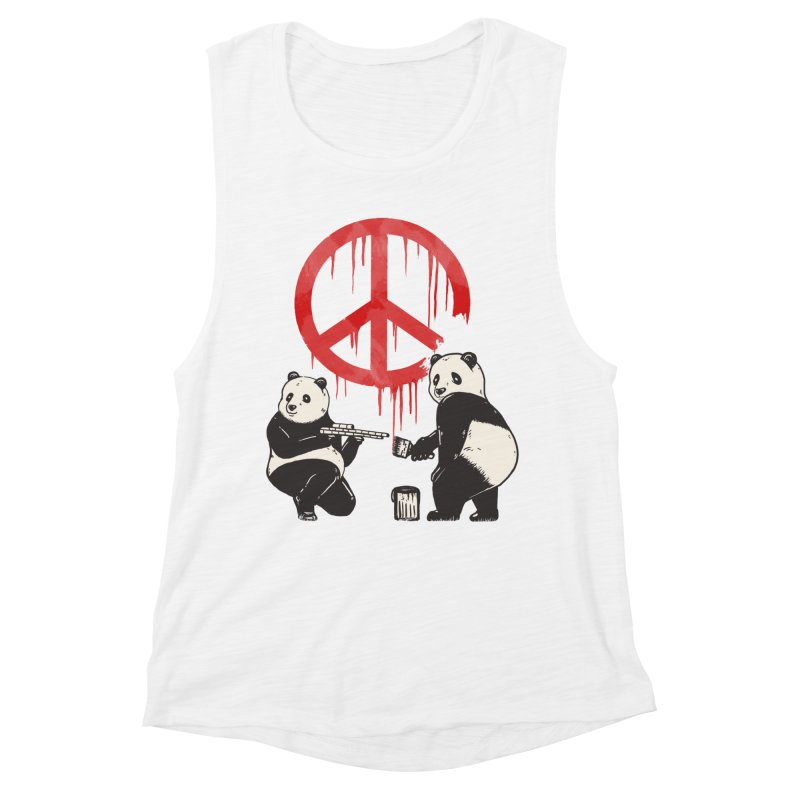 Pandalism Peace Sign Women's Muscle Tank by Fathi