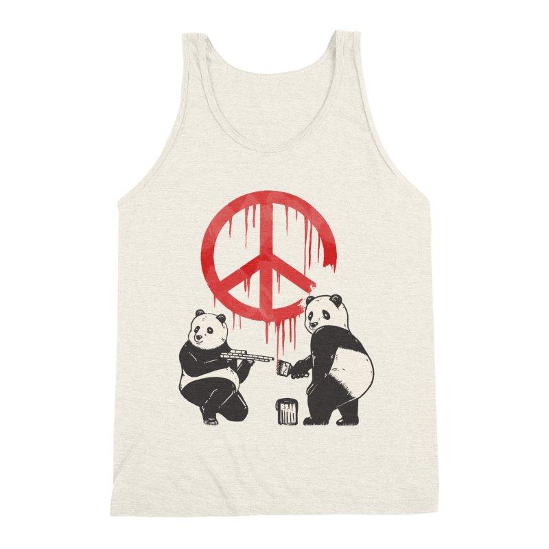 Pandalism Peace Sign Men's Triblend Tank by Fathi