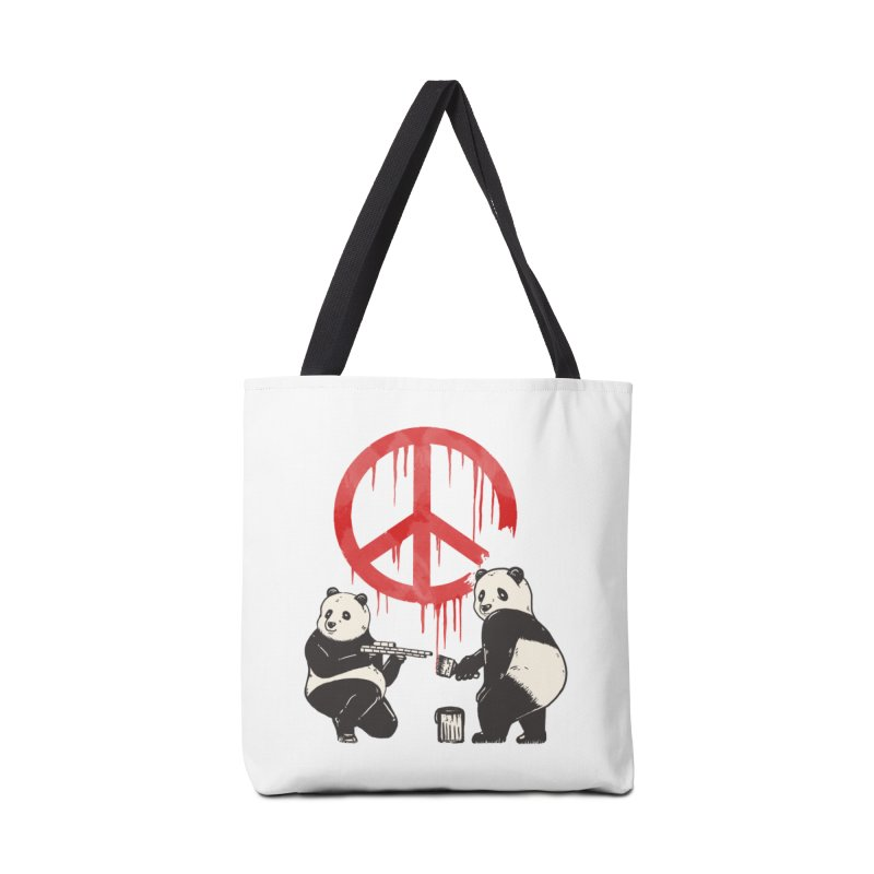 Pandalism Peace Sign Accessories Bag by Fathi