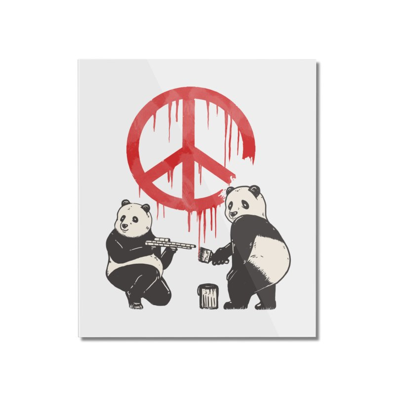 Pandalism Peace Sign Home Mounted Acrylic Print by Fathi
