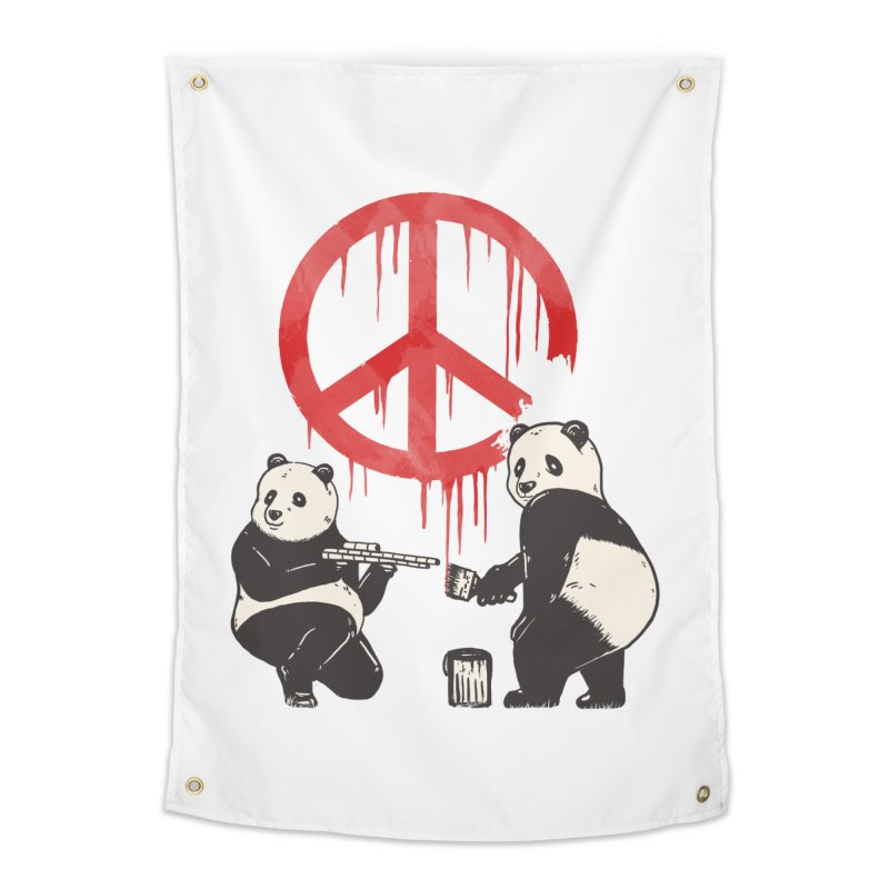 Pandalism Peace Sign Home Tapestry by Fathi