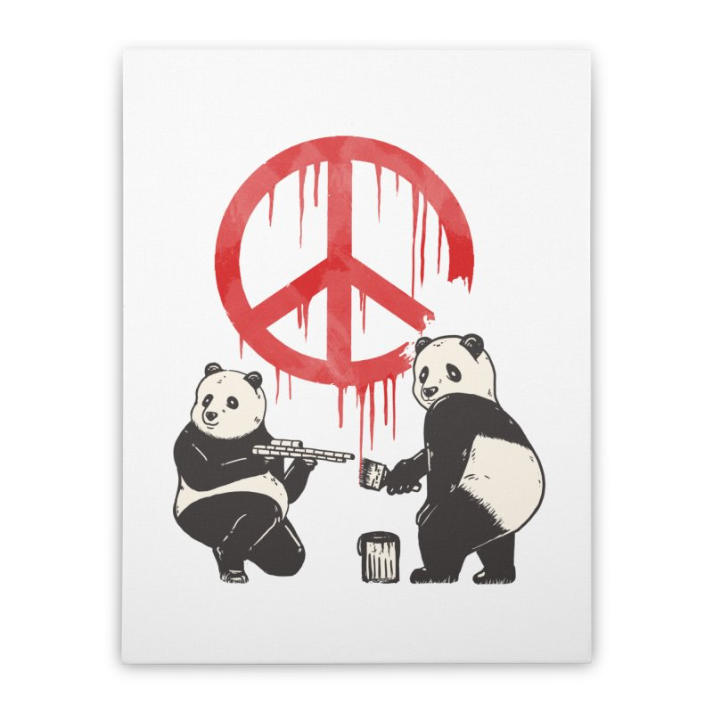 Pandalism Peace Sign Home Stretched Canvas by Fathi