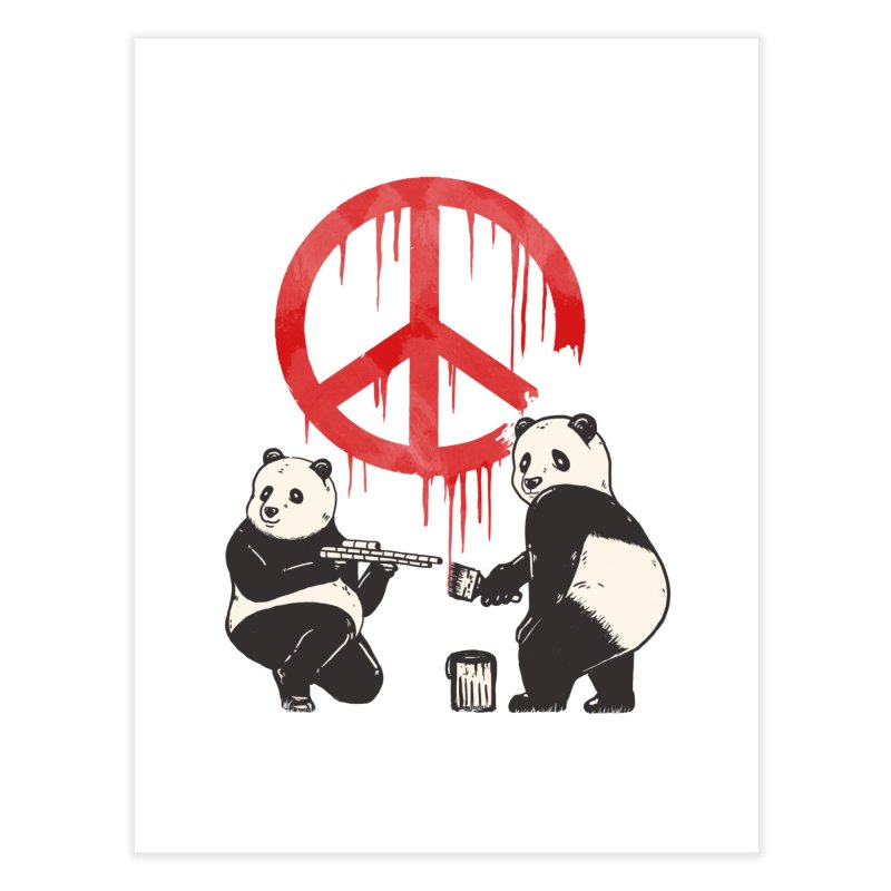 Pandalism Peace Sign Home Fine Art Print by Fathi
