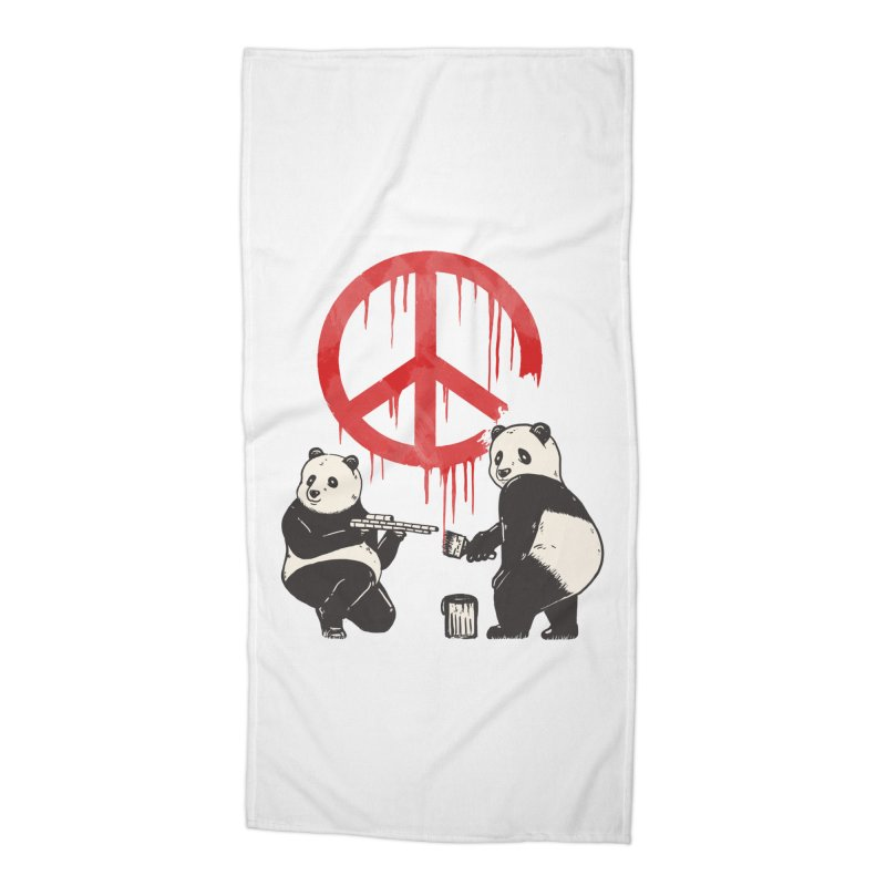 Pandalism Peace Sign Accessories Beach Towel by Fathi