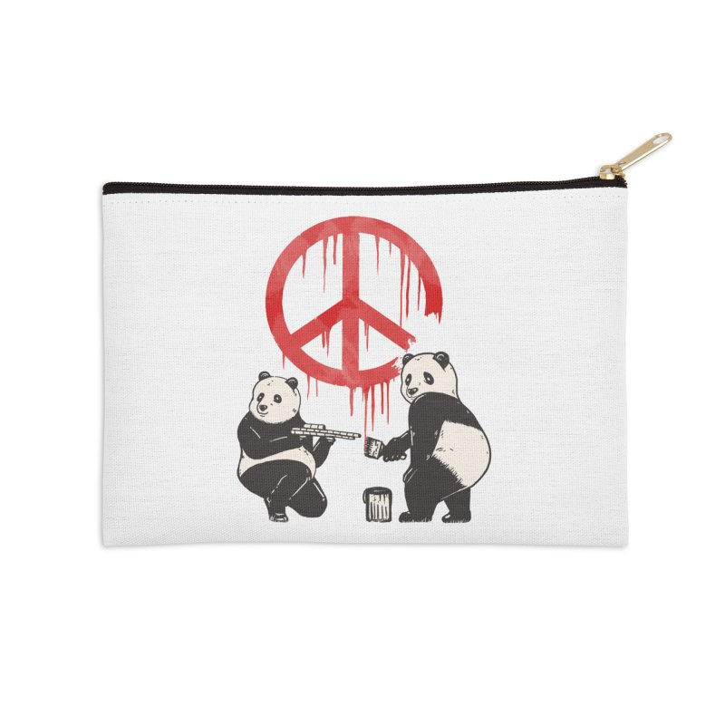 Pandalism Peace Sign Accessories Zip Pouch by Fathi