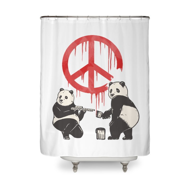 Pandalism Peace Sign Home Shower Curtain by Fathi