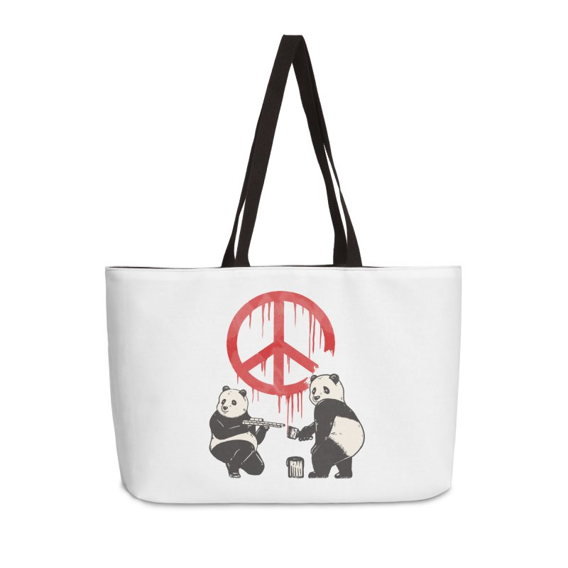 Pandalism Peace Sign Accessories Weekender Bag Bag by Fathi