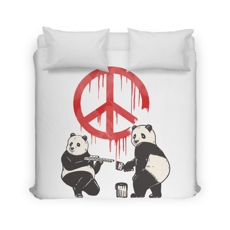 Pandalism Peace Sign Home Duvet by Fathi