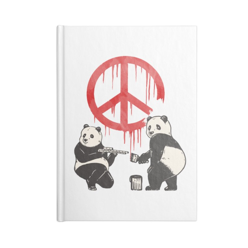 Pandalism Peace Sign Accessories Blank Journal Notebook by Fathi