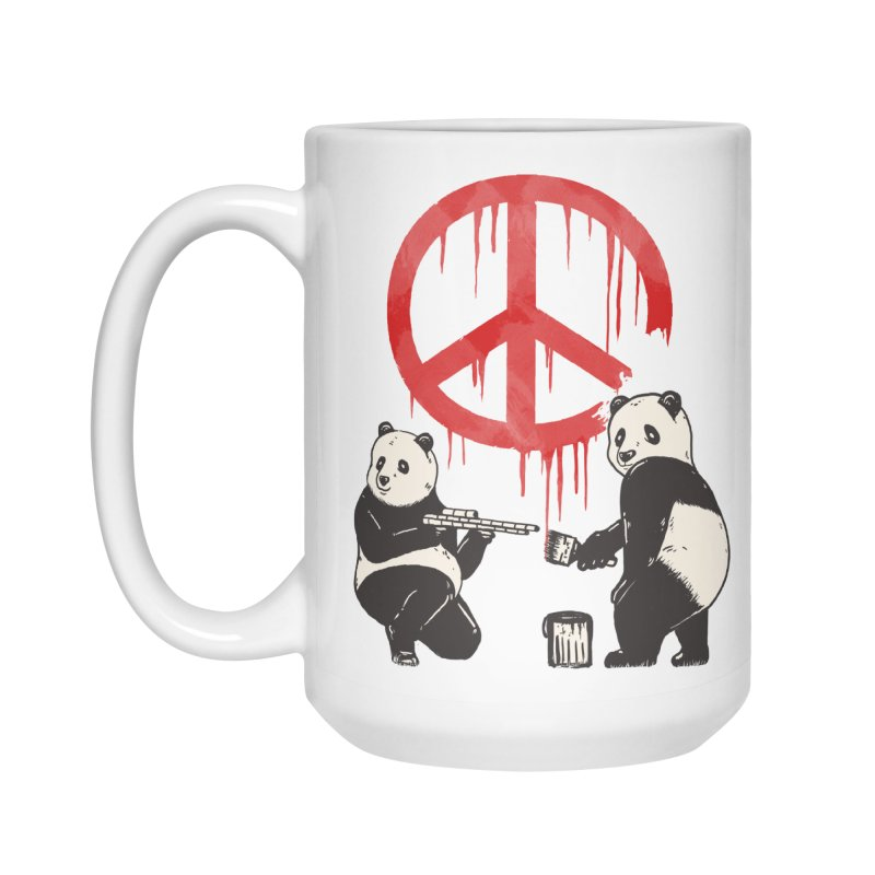 Pandalism Peace Sign Accessories Mug by Fathi