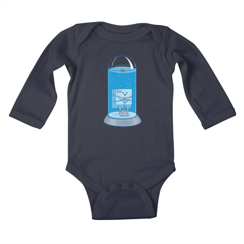 Escape Artist Kids Baby Longsleeve Bodysuit by Fathi