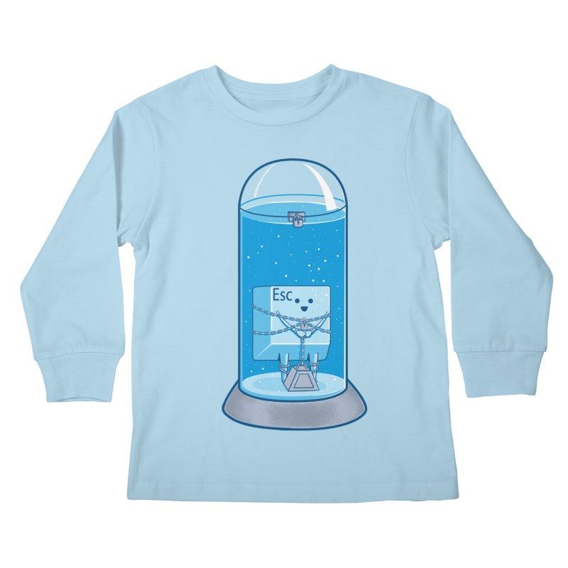 Escape Artist Kids Longsleeve T-Shirt by Fathi