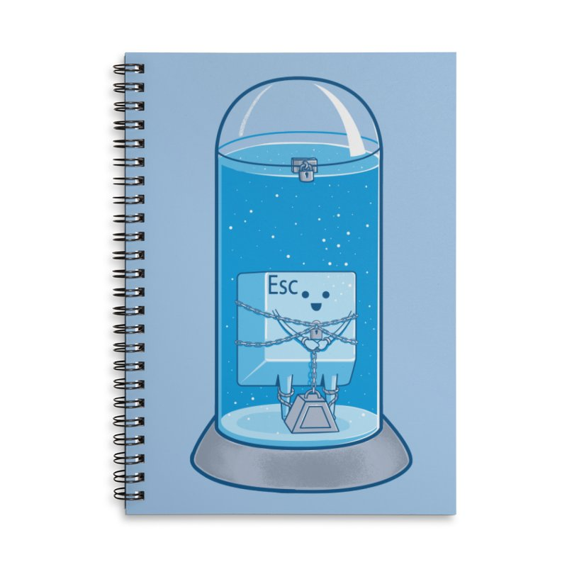 Escape Artist Accessories Lined Spiral Notebook by Fathi