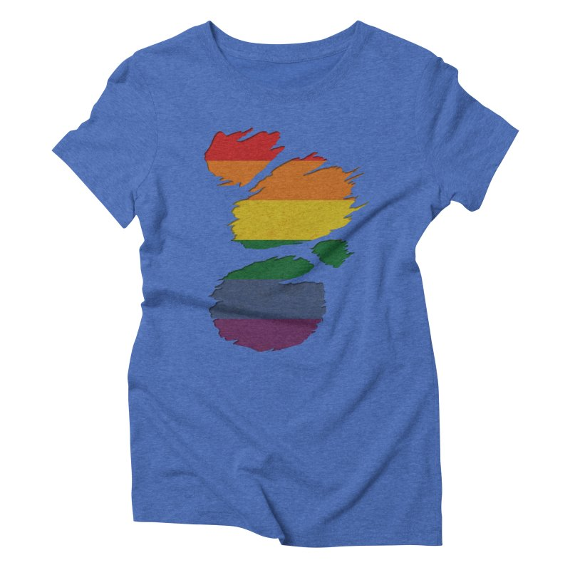 LGBT Inside Women's Triblend T-Shirt by Fathi